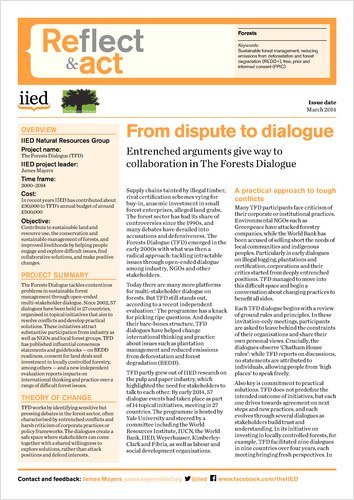 Reflect and Act: from dispute to dialogue
