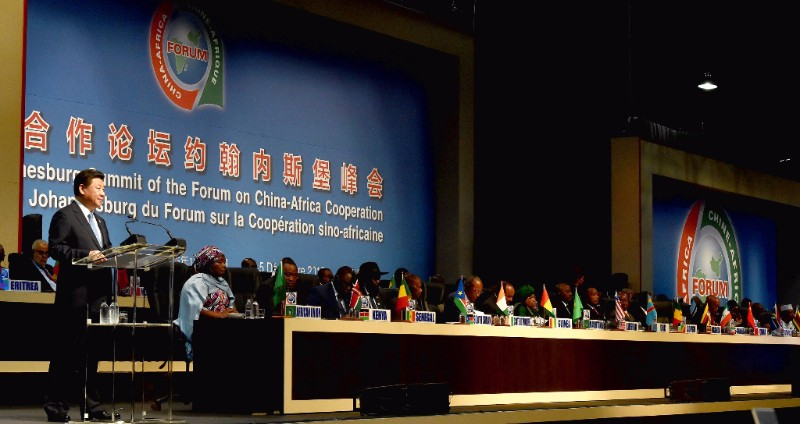 Chinese President Xi Jinping addresses the Forum on China-Africa Cooperation (FOCAC), held from 3 to 5 December 2015 in Sandton, Johannesburg. (Photo credit: GCIS/GovernmentZA, Creative Commons, via Flickr)