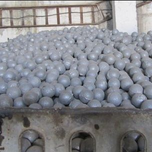 Photo: Steel balls compiled by a grinding media supplier for mining in Kyrgyzstan (Credit: Jeff Geipel)