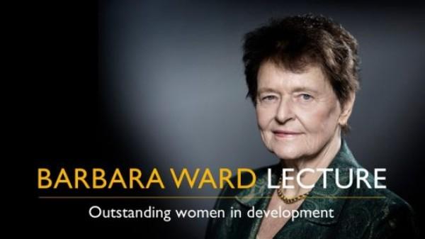 Barbara Ward Lecture image with Gro Harlem Brundtland