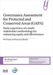 Governance Assessment for Protected and Conserved Areas (GAPA): Early experience of a multi-stakeholder methodology for enhancing equity and effectiveness