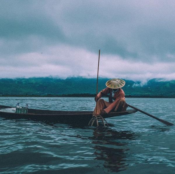 A fisherman at Inle Lake, Myanmar (Photo: Philippe Bourhis on Unsplash)