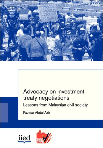 "Cover image of the write-up ""Advocacy on treaty negotiations: lessons from malaysian civil society"""