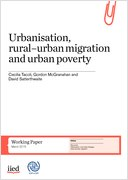 Image of publication front cover: Urbanisation, rural–urban migration and urban poverty
