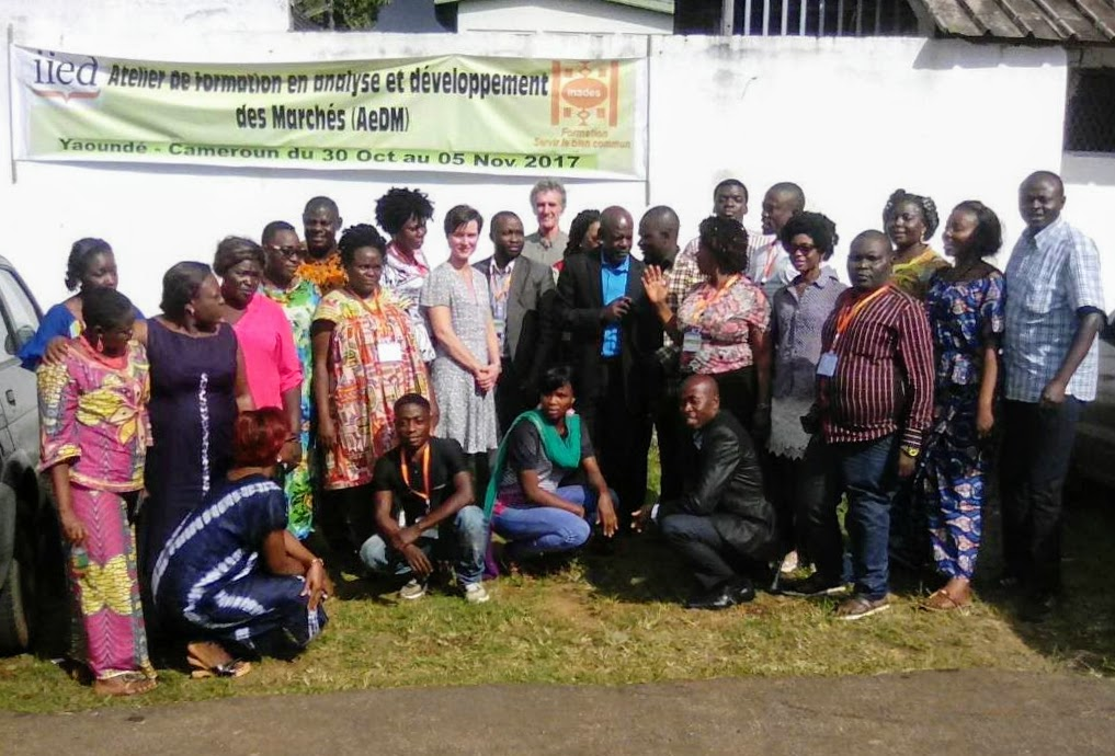 Participants being trained using the Market Analysis and Development (MA&D) approach in Yaounde, Cameroon (Photo: Anna Bolin/IIED)