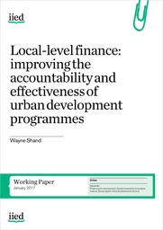 Local-level finance: improving the accountability and effectiveness of urban development programmes