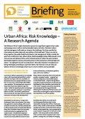 Urban Africa: Risk Knowledge – A Research Agenda