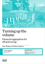 Turning up the volume: financial aggregation for off-grid energy