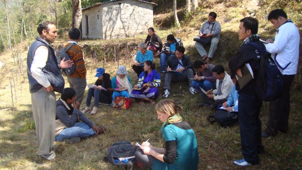 An exchange visit organised with partners in Nepal that allowed community foresters to share their experiences with civil society activists from the Lao PDR. (Photo: IIED)