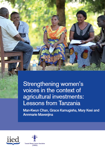 Strengthening women's voices in the context of agricultural investments: Lessons from Tanzania