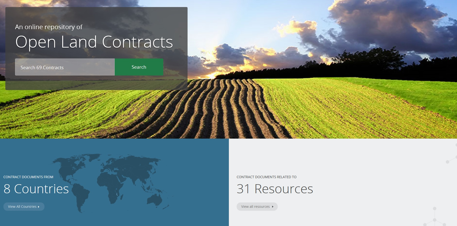 The new OpenLandContracts.org database cover image