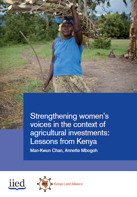Strengthening women's voices in the context of agricultural investments: Lessons from Kenya