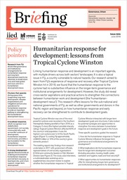 Publications from the Urban Crises Learning Fund