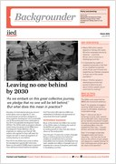 Cover of IIED backgrounder: Leaving no one behind by 2030