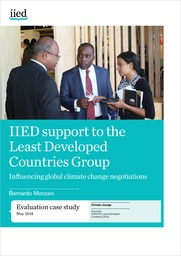 IIED support to the Least Developed Countries Group