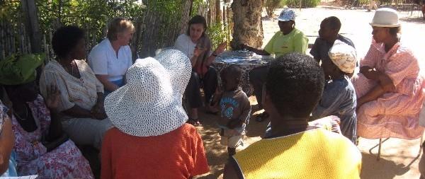 Community meeting in Omaruru, Namibia