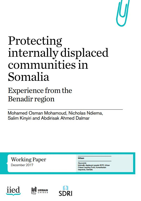 Protecting internally displaced communities in Somalia: experience from the Benadir region