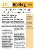 African urbanisation: Implications for risk accumulation and reduction
