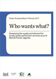 Who wants what? Assessing the supply and demand for locally produced tourism services around Bwindi Forest, Uganda