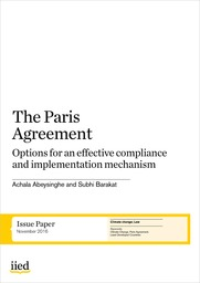 The Paris Agreement: Options for an effective compliance and implementation mechanism