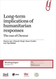 Long-term implications of humanitarian responses: the case of Chennai