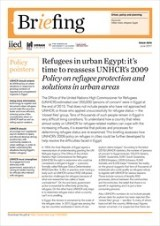 Refugees in urban Egypt: it's time to reassess UNHCR's 2009 Policy on refugee protection and solutions in urban areas