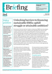 Unlocking barriers to financing sustainable SMEs: uphill struggle or attainable ambition?