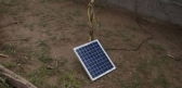 A village in North Sri Lanka benefits from energy provided by a solar panel