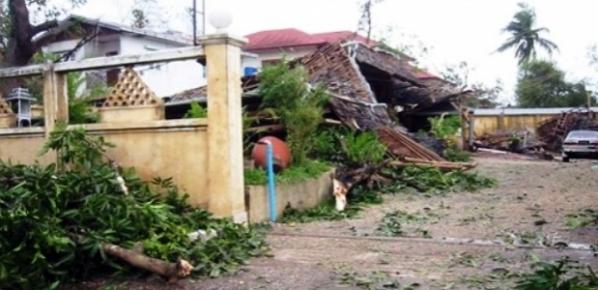 Cyclone Nargis destroyed this home in Rangoon, Myanmar in 2008