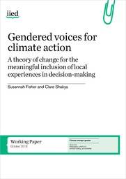 Gendered voices for climate action, a theory of change for the meaningful inclusion of local experiences in decision-making