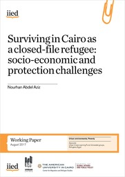 Surviving in Cairo as a closed-file refugee: socio-economic and protection challenges