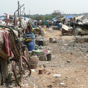A view of the migrant informal community of Marathahalli, Bengaluru (Photo: Kavya Michael)