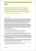 IIED submission to the EU public consultation on the Transatlantic Trade and Investment Partnership