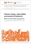 Climate change vulnerability assessments in Indonesia: Where are the women's perspectives?