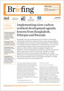 Implementing a low-carbon resilient development agenda: lessons from Bangladesh, Ethiopia and Rwanda