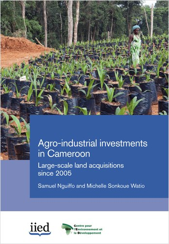 """Cover image of the report """"Agro-industrial investments in Cameroon: Large-scale land acquisitions since 2005"""""""