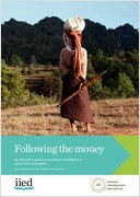 Following the money: an advocate's guide to securing accountability for agricultural investment
