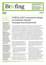 COP24: LDCs' moment to shape an inclusive climate transparency framework