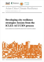 Developing city resilience strategies: lessons from ICLEI and ACCCRN