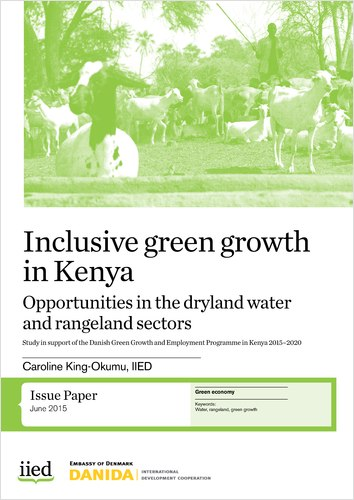 Inclusive green growth in Kenya: Opportunities in the dryland water and rangeland sectors