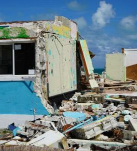 A house destroyed by Hurricane Dorian, the second strongest Atlantic hurricane on record, caused billions of dollars of damage across the Caribbean (Commonwealth Secretariat via Flickr, CC BY-NC 2.0)