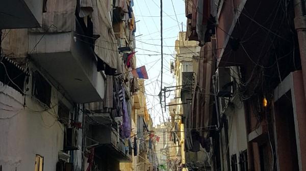 Balconies and wires in urban Lebanon. (Photo: Marwa Boustani)