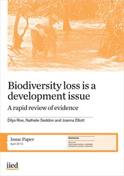 Biodiversity loss is a development issue. A rapid review of the evidence