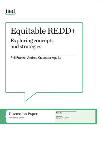 Equitable REDD+: Exploring concepts and strategies