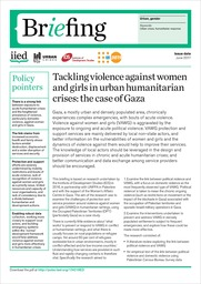Tackling violence against women and girls in urban humanitarian crises: the case of Gaza