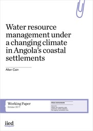 Water resource management under a changing climate in Angola's coastal settlements