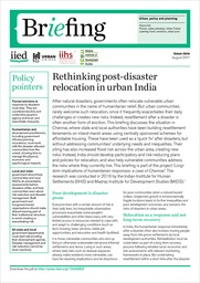Rethinking post-disaster relocation in urban India