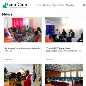 The new website offers all content in both French and English (Image: IIED/LandCam)