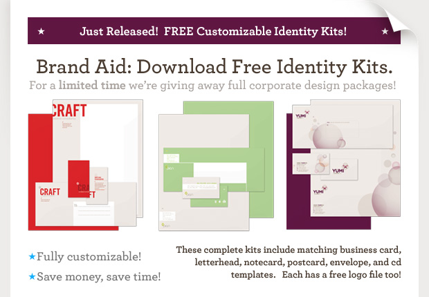 Inkd is  Offering THREE FREE Branding Kits for Download