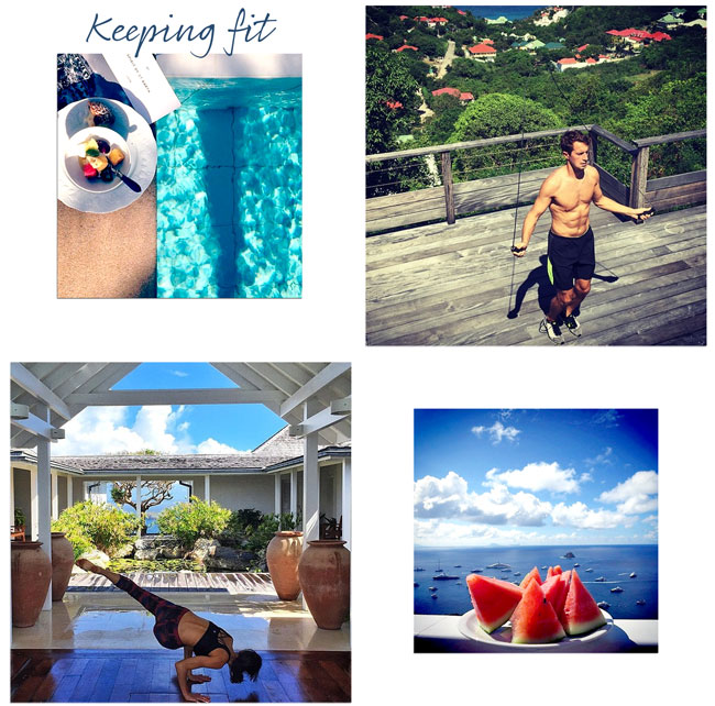 Keeping Fit on Instagram @wimcovillas